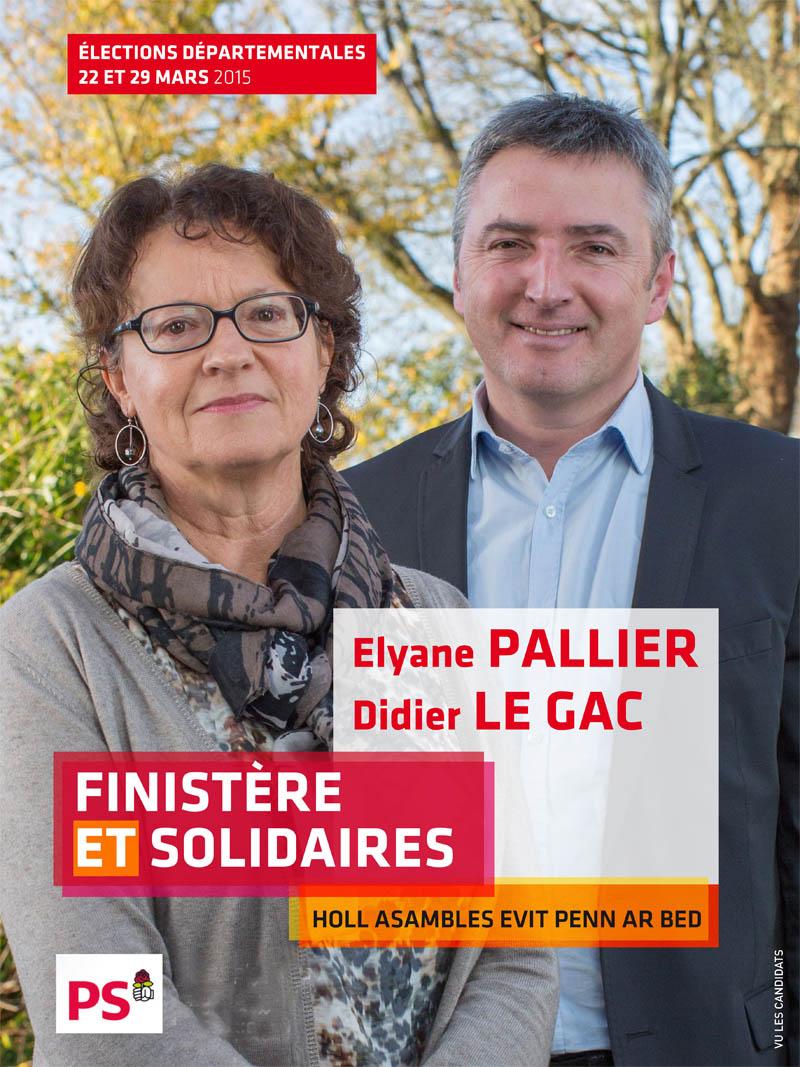 Site de campagne des élections départementale en Finistère